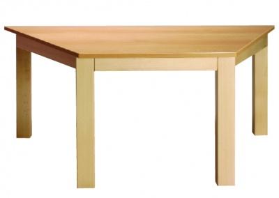 Stůl poloviční šestiúhelník 117x52/64 přírodní