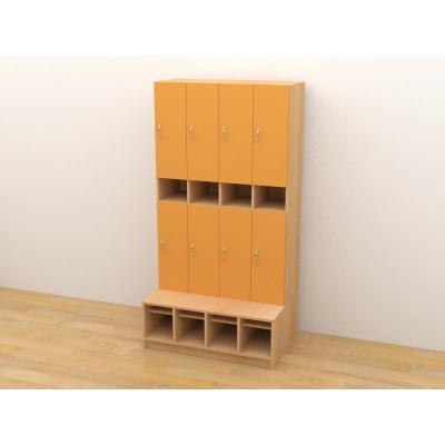 Šatní skříň, dvířka oranžová