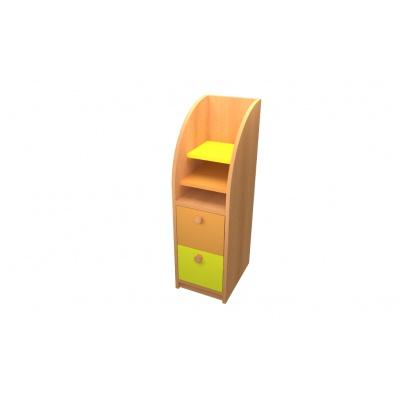 Skříňka na výtvarný materiál, korpus buk