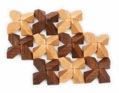 Dřevěné kameny 40 ks