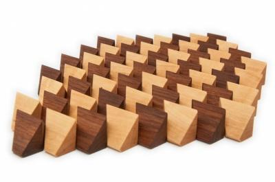 Dřevěné kameny 60 ks