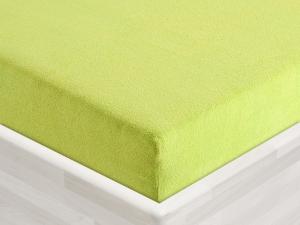 Froté prostěradlo k matraci dřevěného lehátka žlutozelené, guma po obvodu, č.27