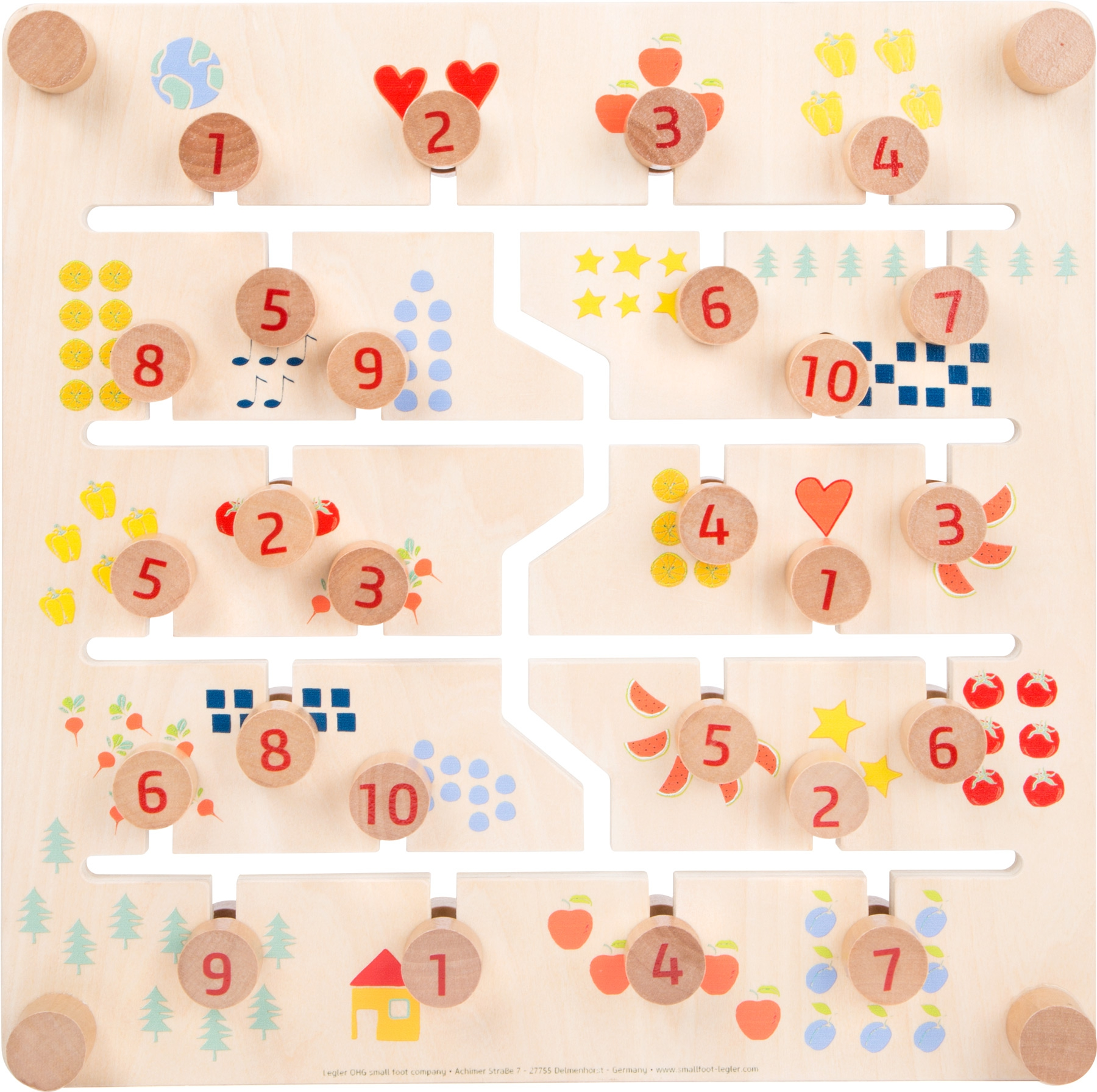 Oboustranná deska - labyrint