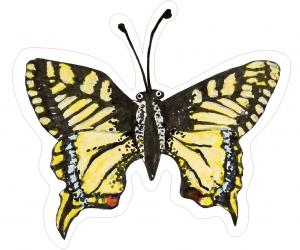 Nástěnná dekorace motýl Otakárek fenyklový