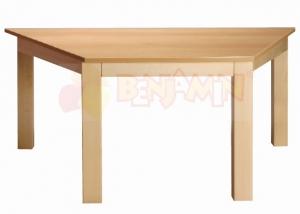 Stůl poloviční šestiúhelník 117x52/64 deska barevná
