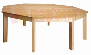 Stůl osmiúhelník průměr 141,5/46 deska barva 0, J, G, B