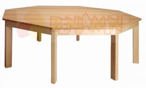 Stůl osmiúhelník 141,5/64 deska barevná