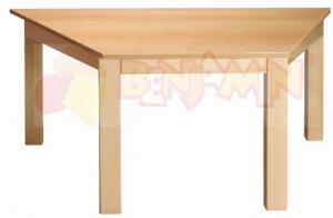 Stůl lichoběžník 120x60/52 deska barevná