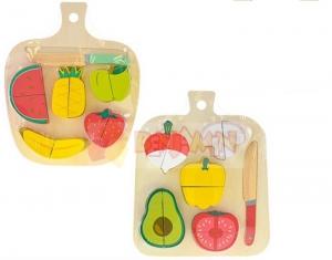 Dřevená deska s krájecím ovocem