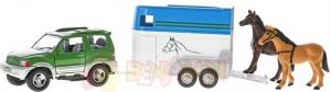 Auto s přívěsem pro koně