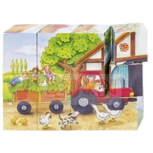 Kostky roční období na farmě