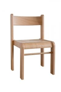 Židlička Bambi stohovatelná v.38 přírodní