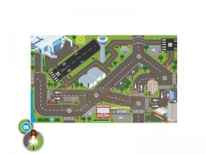 Svítící dopravní koberec - letiště
