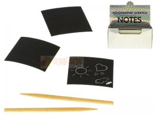 Kreativní sada škrábacích papírů s perem