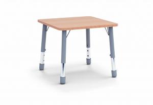 Stůl čtverec 80 x 80 / v. 46 - 59 cm, deska barevná